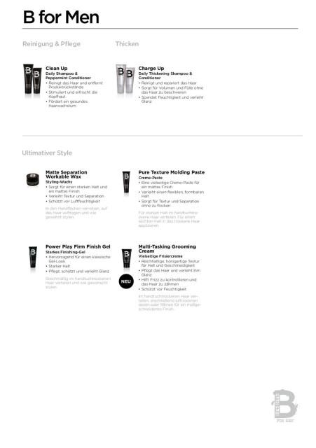 TIGI Produktserie: B for Men